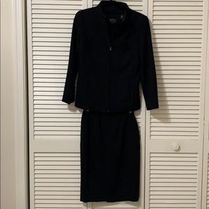 Dana Bachman black skirt suit